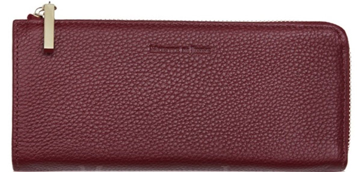 a27069b60513 Handbag Bliss Ladies Womens Medium Large Leather Purse Wallet With Dust Bag  Burgundy 2